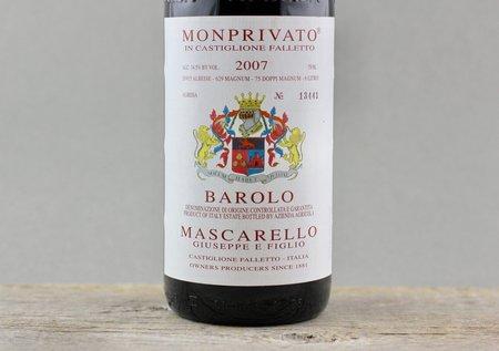 Giuseppe E Figlio Mascarello Monprivato di Castiglione Falletto Barolo Nebbiolo 2007