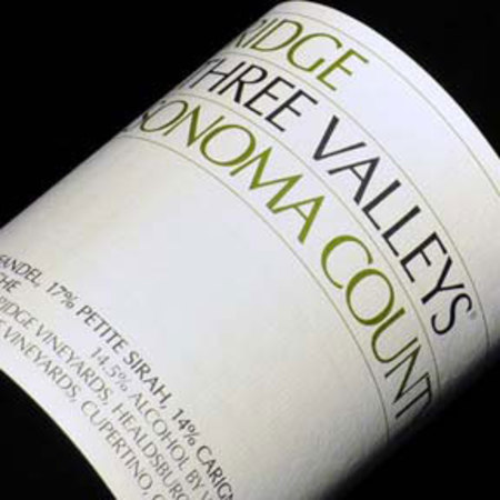 Ridge Vineyards Three Valleys Zinfandel Blend 2014