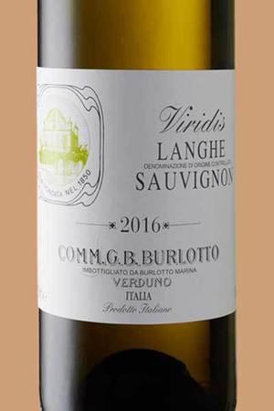 Comm. G.B. Burlotto Viridis Langhe Sauvignon Blanc  2016