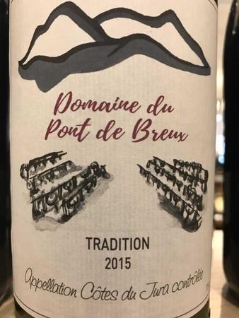 Domaine du Pont de Breux Tradition Rouge Côtes du Jura Pinot Noir Trousse  2015