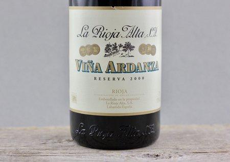 La Rioja Alta Viña Ardanza Reserva Rioja Tempranillo Blend 2000
