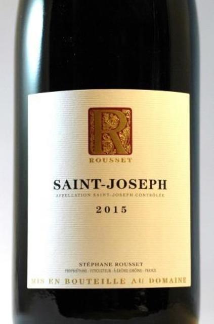 Domaine Rousset Saint-Joseph Syrah 2015