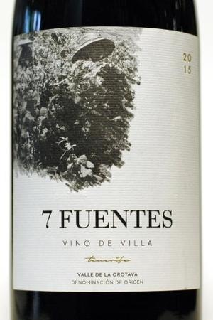 Suertes del Marques  7 Fuentes Valle de la Orotava Listan Negro-Tintilla Blend 2015