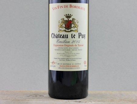 Château Le Puy Emilien Côtes de Francs Red Bordeaux Blend 2014