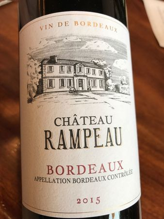 Chateau Rampeau Red Bordeaux Blend 2015
