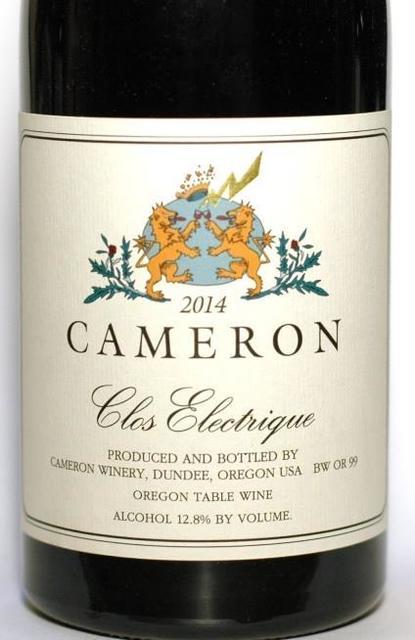 Cameron Winery Clos Electrique Pinot Noir 2014