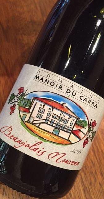 Domaine Manoir du Carra Beaujolais Nouveau Gamay 2017