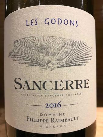 Philippe Raimbault Les Godons Sancerre Sauvignon Blanc 2016