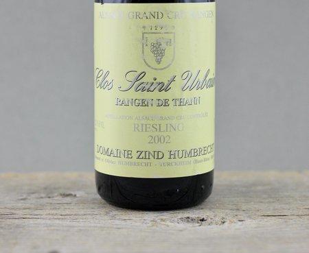 Domaine Zind Humbrecht Clos Saint Urbain Rangen de Thann Riesling 2002 (375ml)