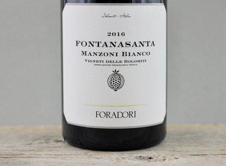 Foradori Fontanasanta Vigneti delle Dolomiti Manzoni Bianco 2016