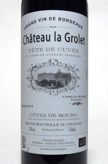 Château la Grolet Tête de Cuvée Côtes de Bourg Merlot Cabernet Sauvignon 2015