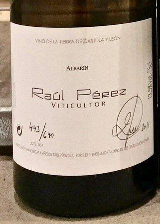 Raul Pérez Rara Avis Vino de la Tierra de Castilla y León Albarin 2011