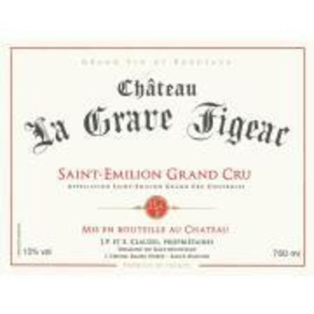 Château La Grave Figeac St. Émilion Grand Cru Red Bordeaux Blend 2014