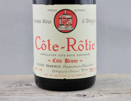 Gentaz-Dervieux Côte Brune Cuvée Réservée Côte-Rôtie Syrah 1989