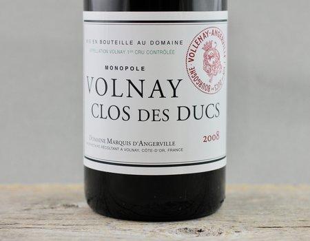 Domaine Marquis d'Angerville Clos des Ducs Monopole Volnay 1er Cru Pinot Noir 2008