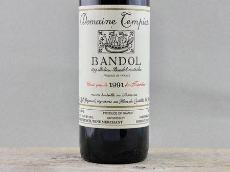 Domaine Tempier Cuvée La Tourtine Bandol Mourvedre Blend 1991