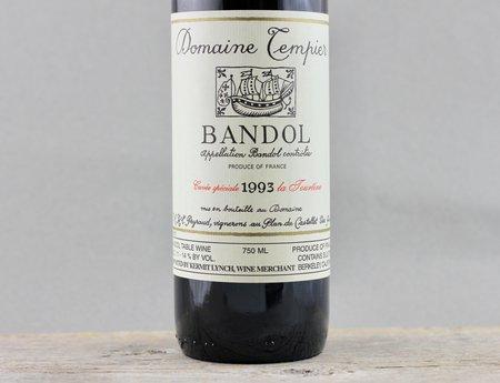 Domaine Tempier Cuvée La Tourtine Bandol Mourvedre Blend 1993