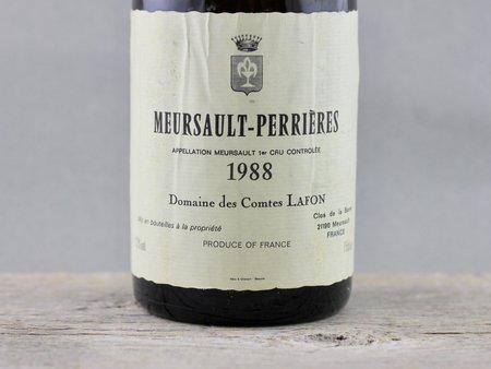 Domaine des Comtes Lafon Meursault-Perrières 1er Cru Chardonnay 1988