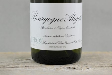 Domaine Leroy Bourgogne Aligoté  2011