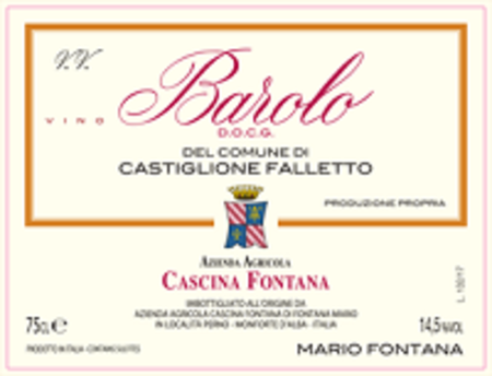 Cascina Fontana Barolo Del Comune Di Castiglione Falletto Nebbiolo 2013