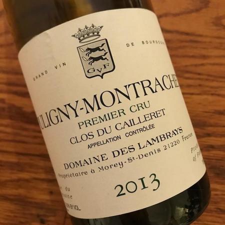 Domaine des Lambrays Clos du Cailleret Puligny-Montrachet 1er Cru Chardonnay 2013