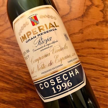 C.V.N.E. (Compañía Vinícola del Norte de España) Imperial Gran Reserva Rioja Tempranillo Blend 1996