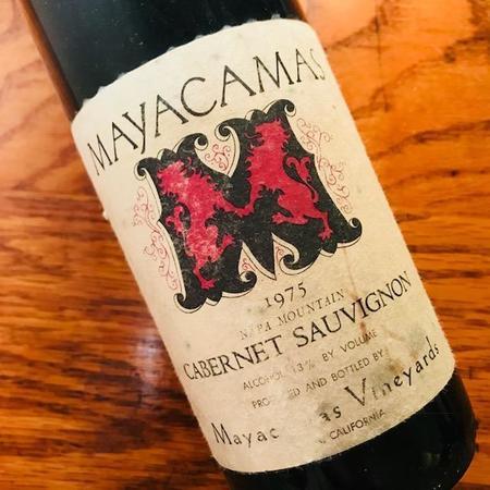 Mayacamas Vineyards Mt. Veeder Cabernet Sauvignon 1975