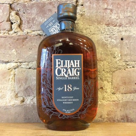 Heaven Hill Distilleries Elijah Craig Aged 18 Years Single Barrel Kentucky Straight Bourbon Whiskey NV