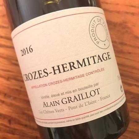 Alain Graillot Crozes-Hermitage Blanc Marsanne-Roussanne Blend 2016