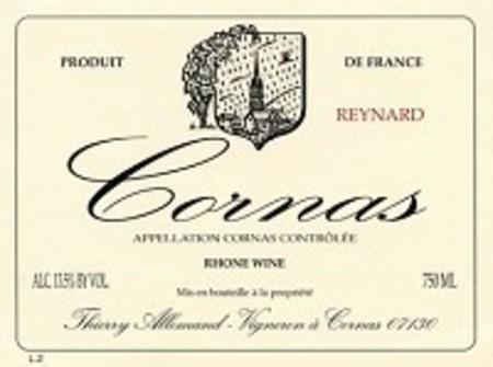 Thierry Allemand Reynard Cornas Syrah 2007