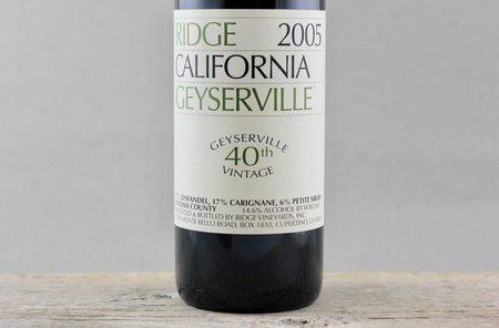 Ridge Vineyards Geyserville Vineyard Zinfandel Blend 2005