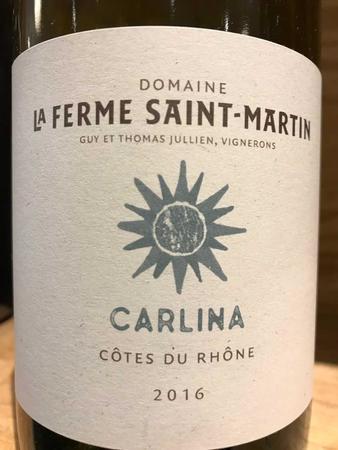Domaine de la Ferme Saint Martin Le Blanc Côtes du Rhône White Rhône Blend 2016