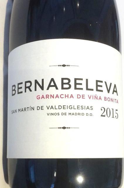 Bodegas Bernabeleva San Martín de Valdeiglesias Garnacha de Viña Bonita 2015