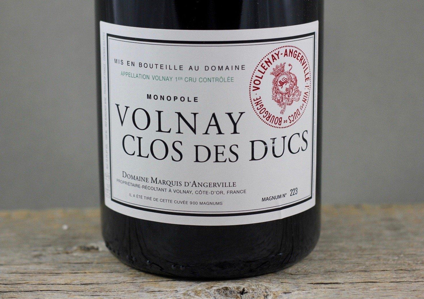 Domaine Marquis D Angerville Clos Des Ducs Monopole Volnay 1er Cru Pinot Noir 2006 1500ml Kogod Wine Merchant