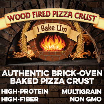 Authentic Brick-oven baked pizza crust
