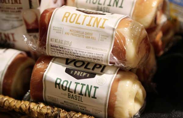 Volpi Mozzarella and Prosciutto Ham Roll