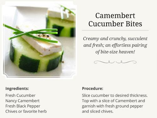 Camembert Cucumber Bites