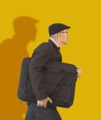Man carrying portfolio case.