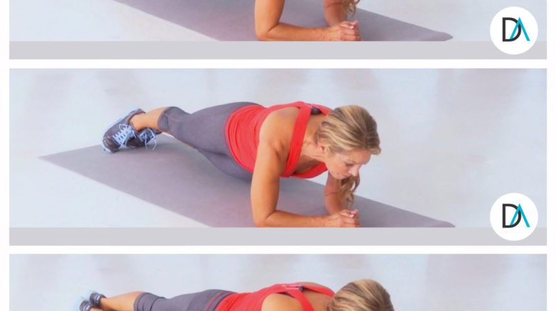 Day 9 of my 10-Day Plank Challenge: Low Plank with Hip Swivel