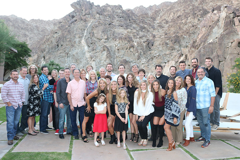 Family and Friends At Denise Austin thanksgiving 2016