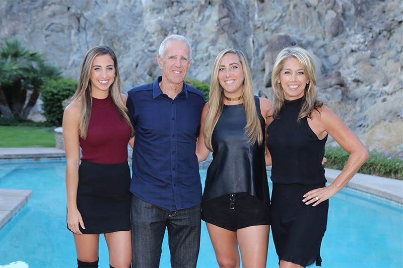 Denise Austin With Husband and Daughters, thanksgiving 2016