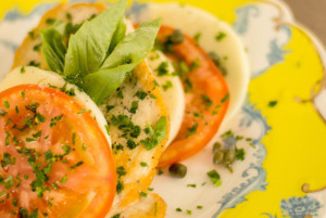 Chicken Piccata with Caprese Salad