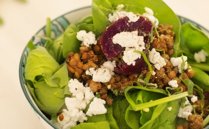 Bold Beet And Lentil Salad