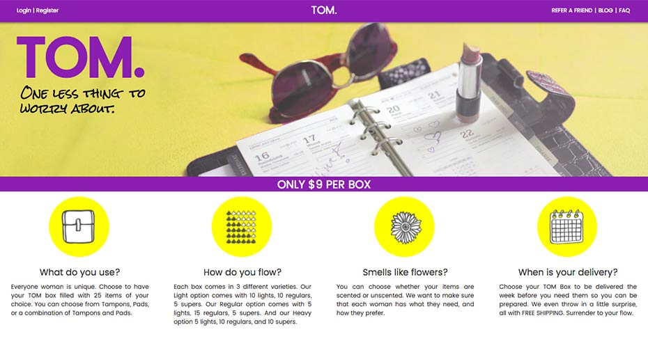 Tom homepage