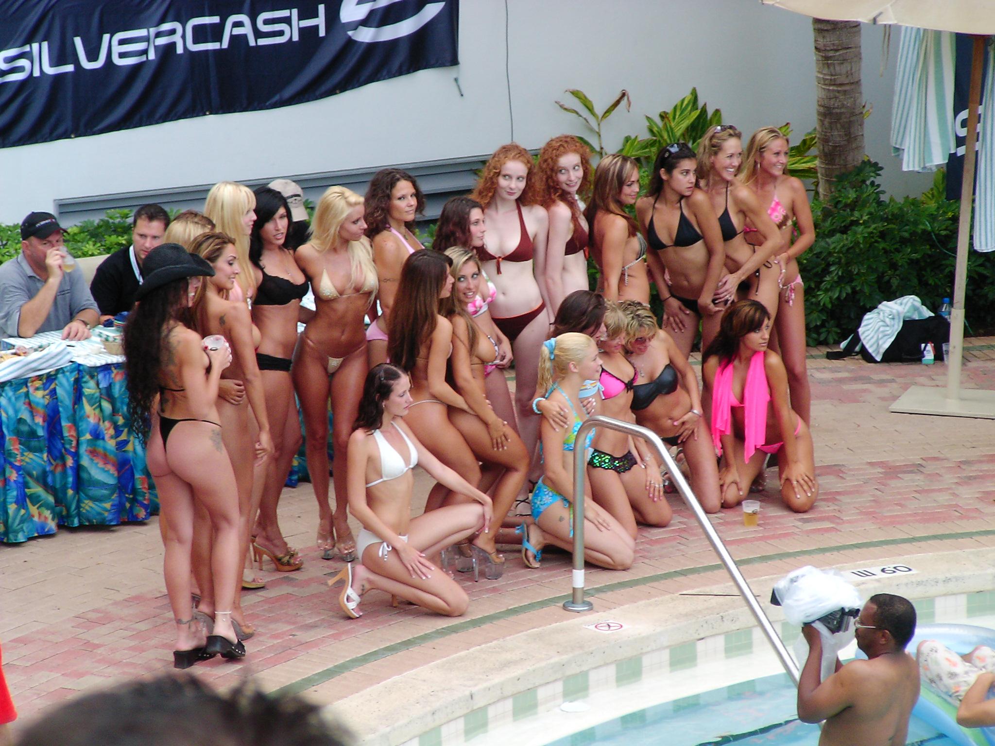 Many Bikini Models