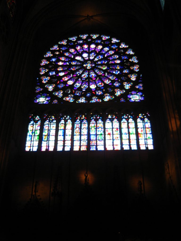 Stained Rose Window