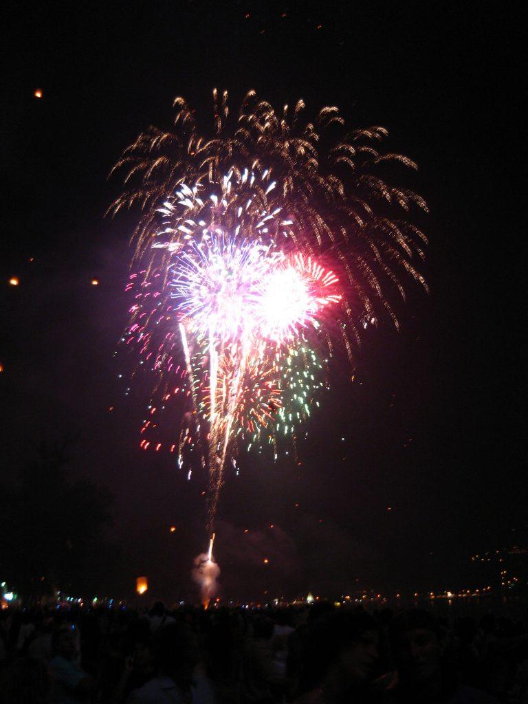 NYE Beach Fireworks