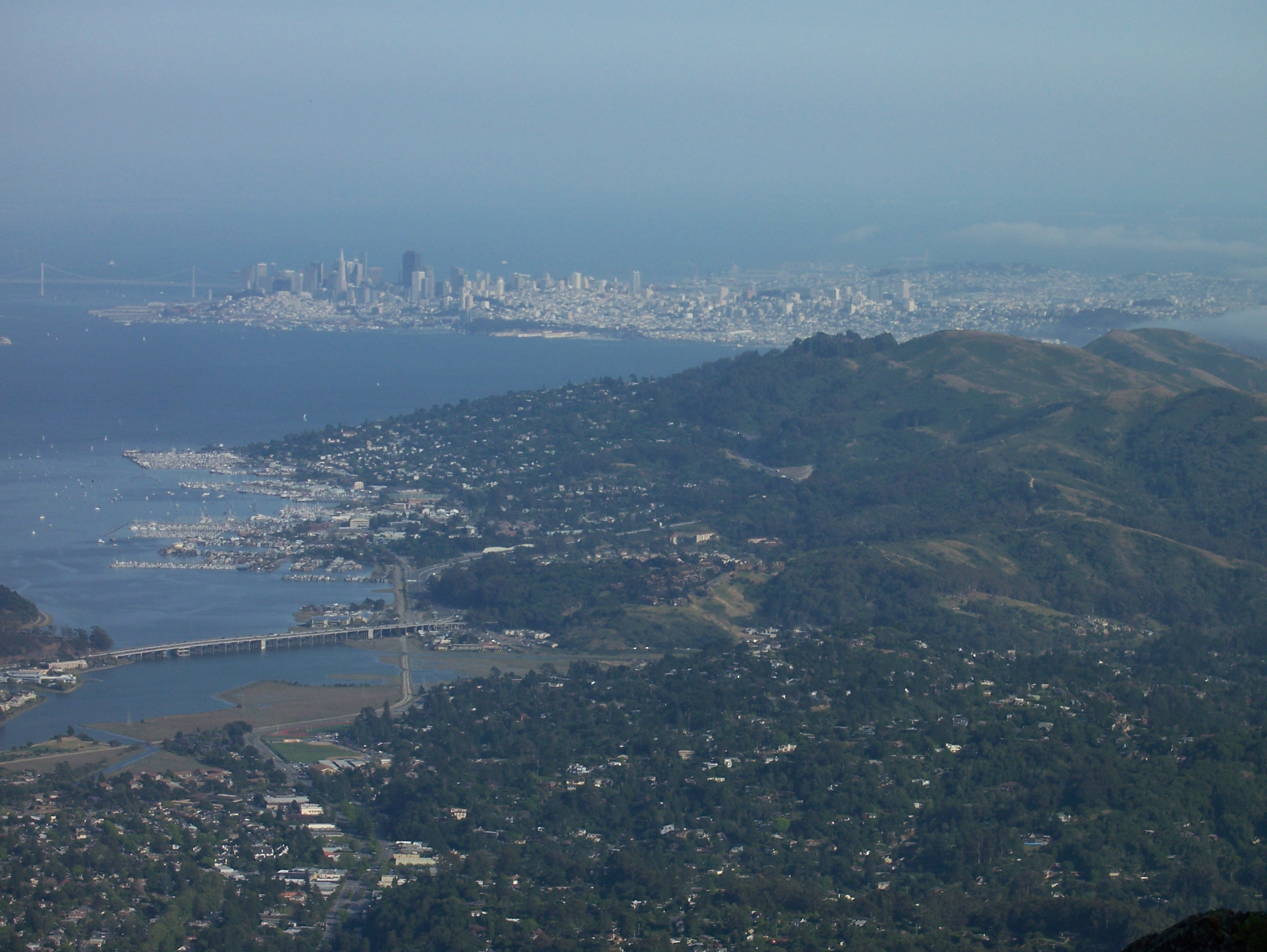 SF from Mt Tam.