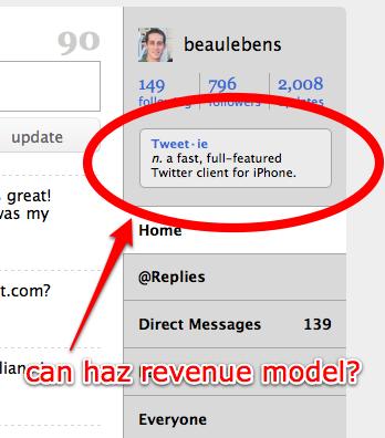 Twitter Revenue Model?