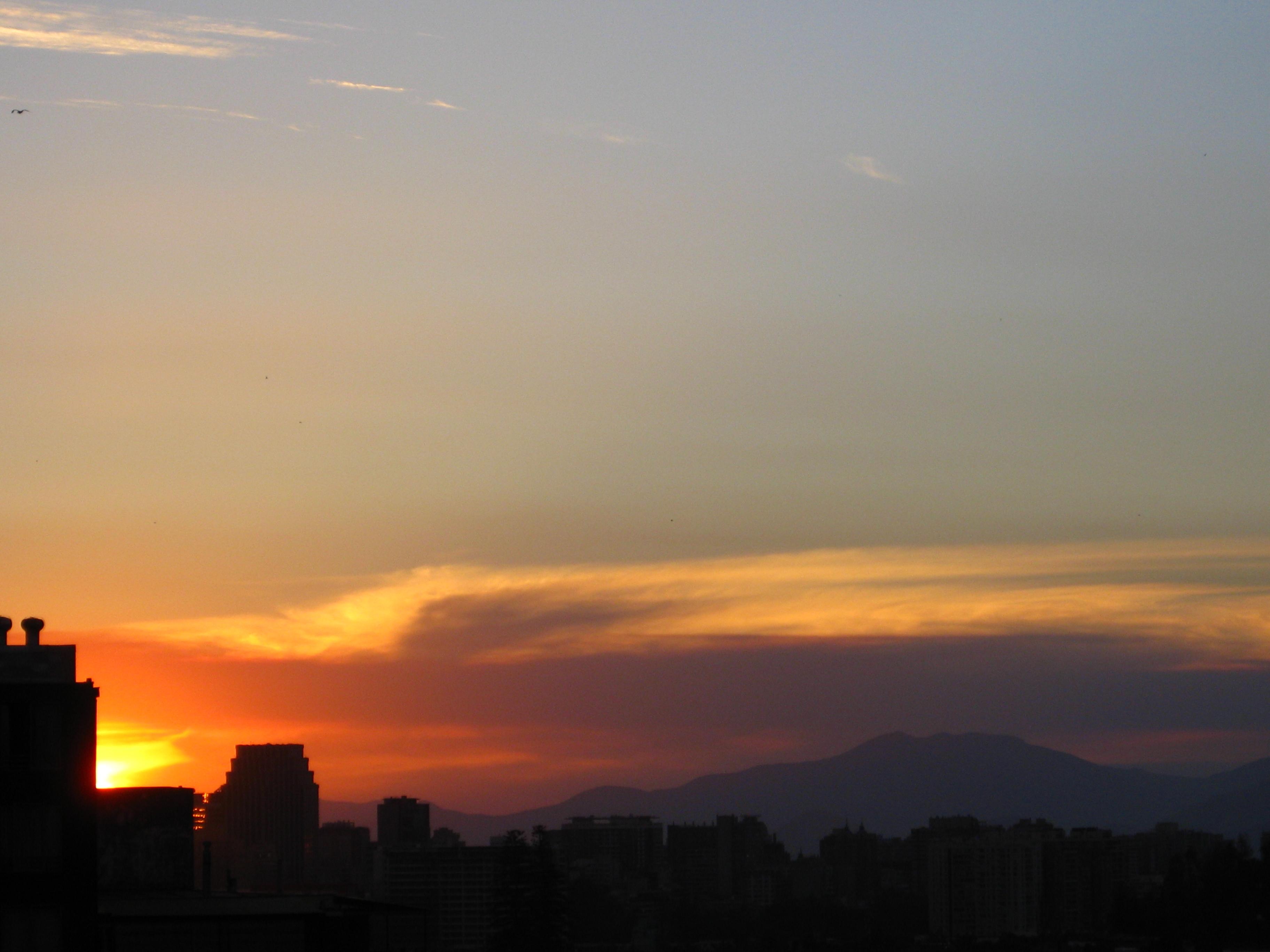 Sunset Over Santiago